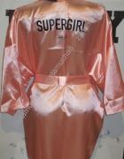 PLNY LALA szlafrok Supergirl Pink Satin Robe
