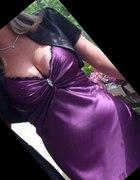 VILA fioletowa sukienka satynowa SYLWESTER 38 M