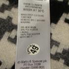 MARKS&SPENCER pepitka czerń spódnica wool 38