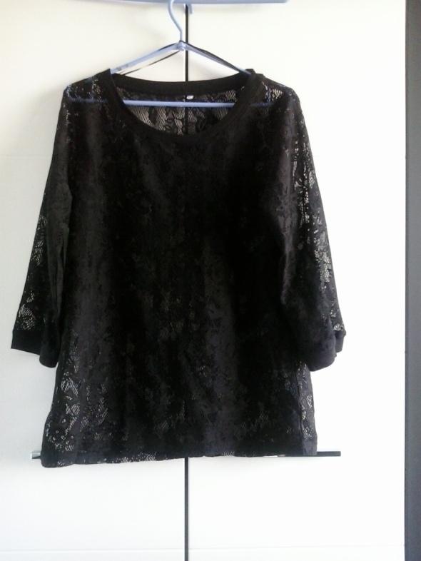 NOWA czarna koronkowa bluzka plus size rozmiar 44