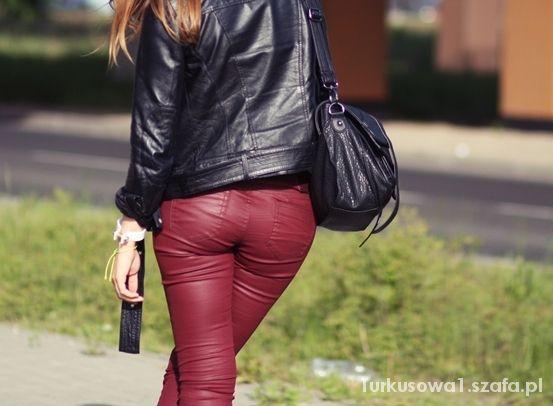 New Yorker Bordowe Spodnie M