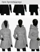 kupie plaszcz kurtke czarna