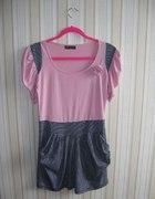 sukienka z bufkami i kieszeniami
