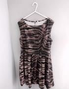 rozkloszowana sukienka motyw panterki