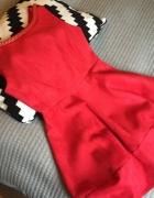 sukienka zamszowa zamsz czerwona