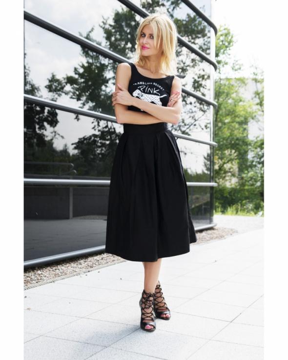 Spódnice Czarna midi maxi spódnica Bershka rozmiar M