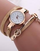 Zegarek Beżowy Wąż