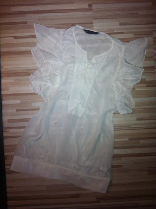 ZARA s 36 biała koszula bluzka wiązana sznurowana