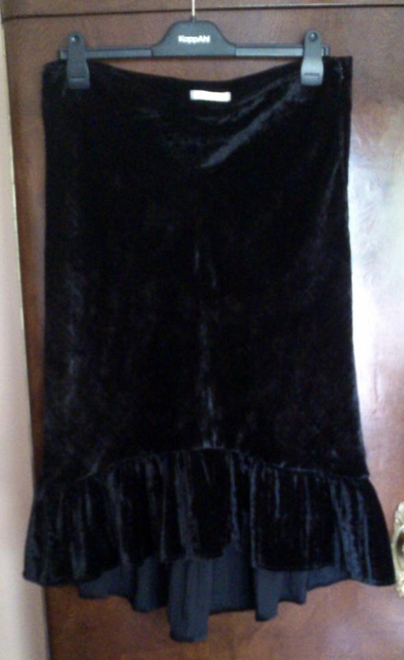 Spódnice Czarna aksamitna ze streczem