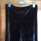 Czarna aksamitna ze streczem