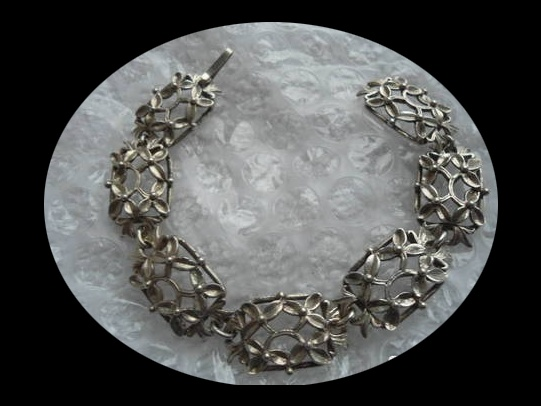 Bransoletka srebrna retro warmet