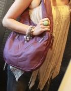 Wrzosowa torba na ramię