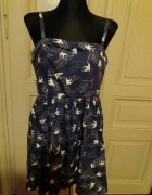 Sukienka w jaskółki vintage retropin up