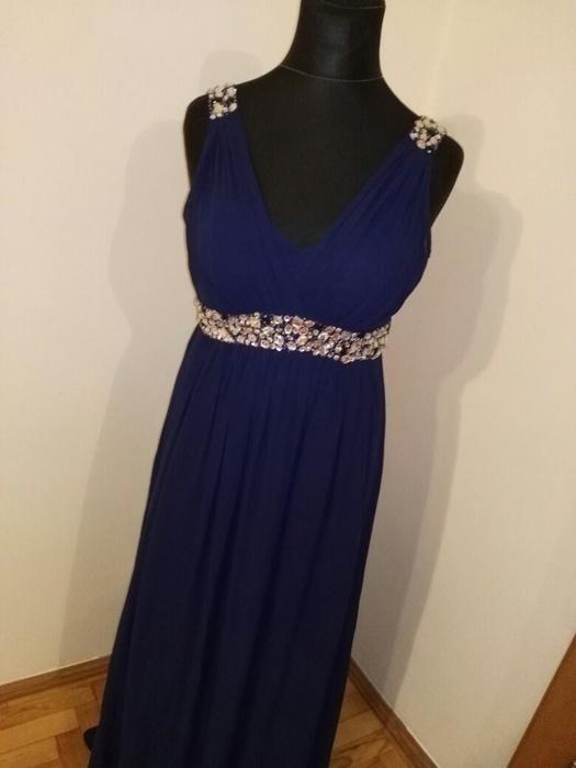 c264fe3e9a sukienka maxi studniówka bal M L granatowa w Suknie i sukienki ...