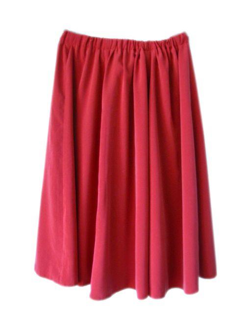 Spódnice Bordowa spódnica midi