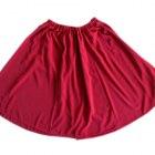 Bordowa spódnica midi