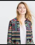 Marynarka haftowana Zara embroidered koraliki