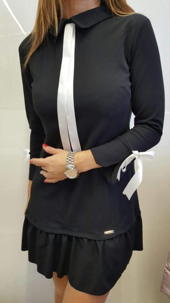 5c0a450c4c Sukienka tunika z krawatem czarna s m w Suknie i sukienki - Szafa.pl