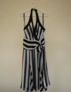 Jedwabna sukienka w pasy