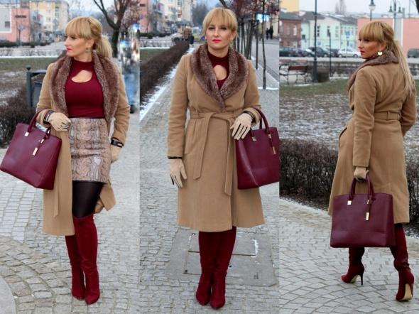 Codzienne Karmelowy płaszcz