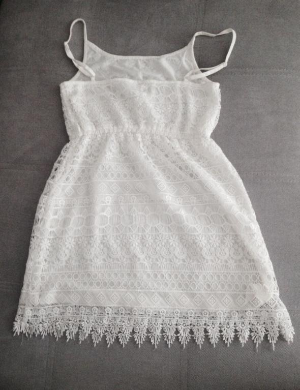 Biała sukienka HM Śliczna Koronka S w Suknie i sukienki