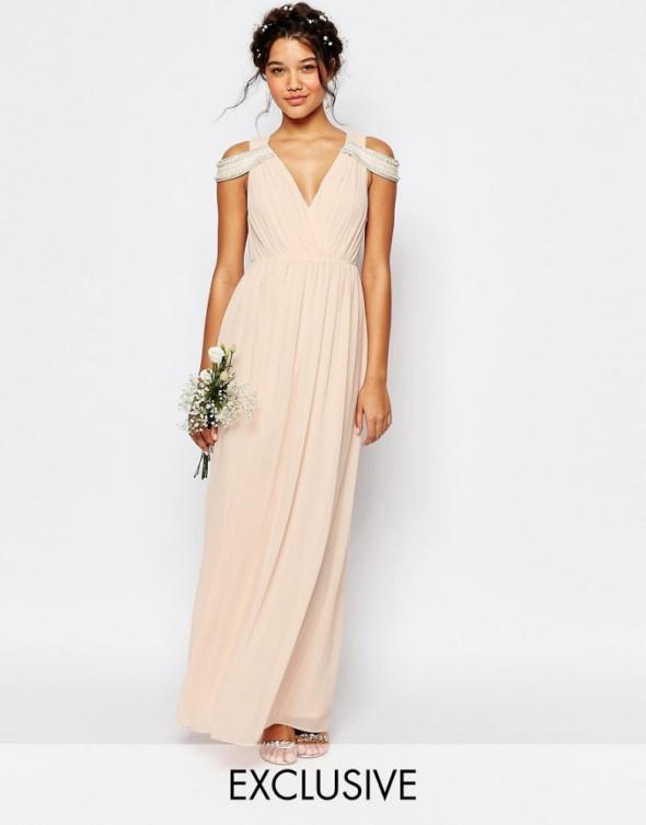 d0eb7a80a6 Asos weeding pudrowa sukienka maxi na wesele w Suknie i sukienki ...