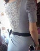sukienka bufki koronka