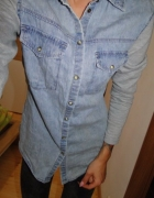 DENIM CO koszula jeansowa dresowe rękawy bluza 36