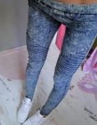 VS MISS tregginsy przeszycia zip zamki jeans 36 S