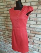 sukienka czerwona satyna
