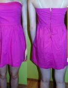 sukienka różowa M L