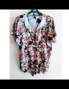 koszula floral bluzka kołnierzyk koronka