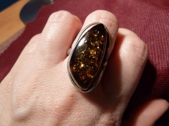 Pierścionki bursztyn w srebrze
