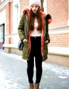 PARKA WITH PINK FUR...