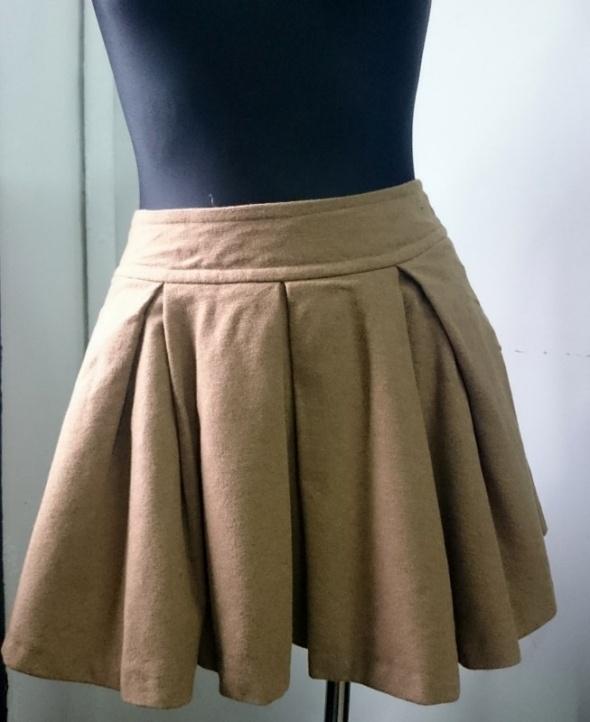 Spódnice Topshop Spódnica wełniana kieszenie r M