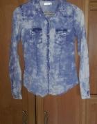 Koszula marmurkowa jeans xs