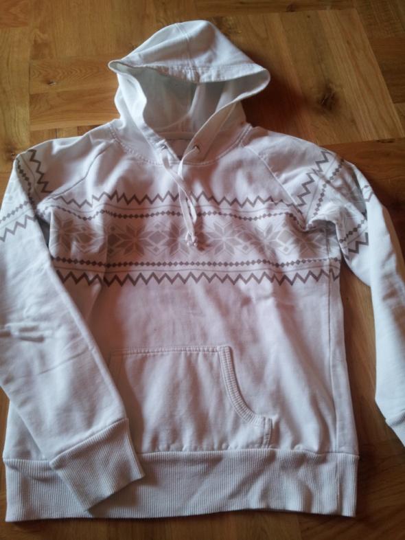 beżowa bluza z azteckim wzorem roz S