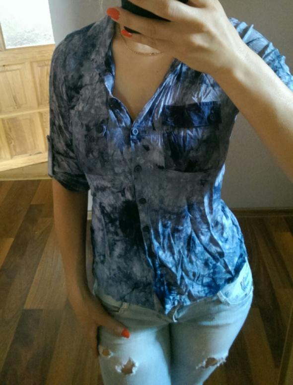 Koszule gnieciona ala jeans