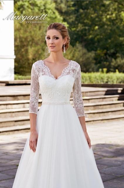 1679d8e73f61 Suknia ślubna Margarett Honorata 2015 rozmiar 38 w Suknie ślubne ...