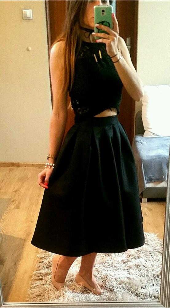 Spódnice Czarna spódnica SheIn midi