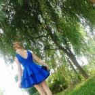 Niebieska suknia