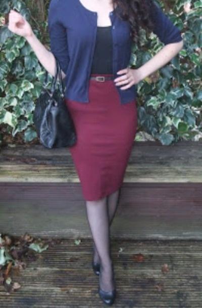 Spódnice burgundowa New Look XL XXL