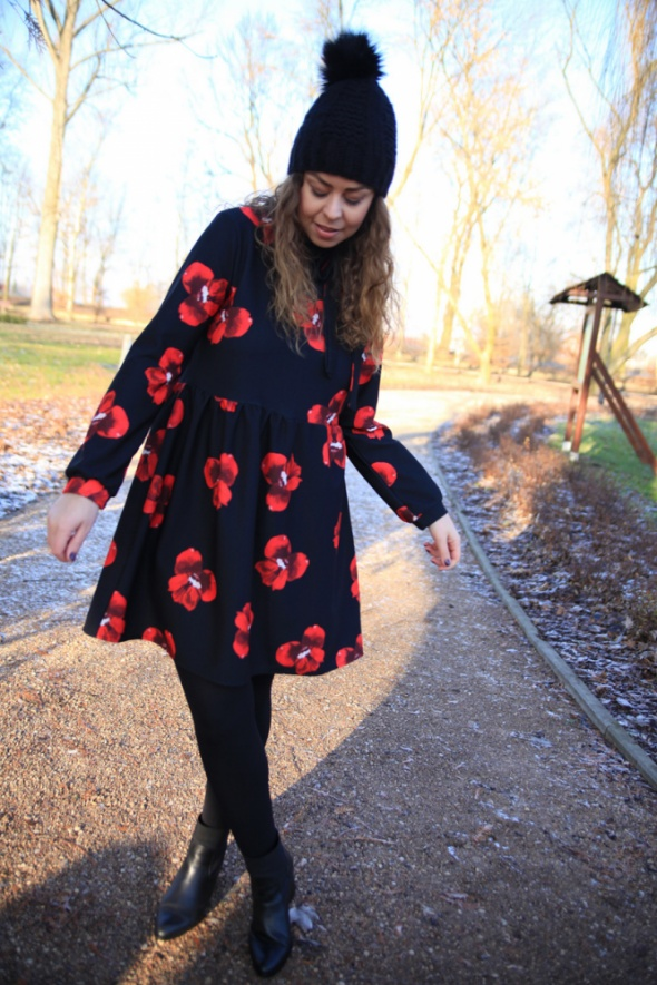 Mój styl sukienka w maki