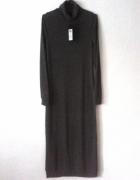 Szara sukienka ONLY długa maxi klasyk plus Gratis