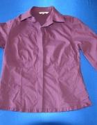 Fioletowa elegancka koszula z falbanką