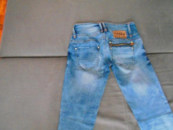 TALLY WEIJL jeansy rurki zamki przetarcia niebiesk...