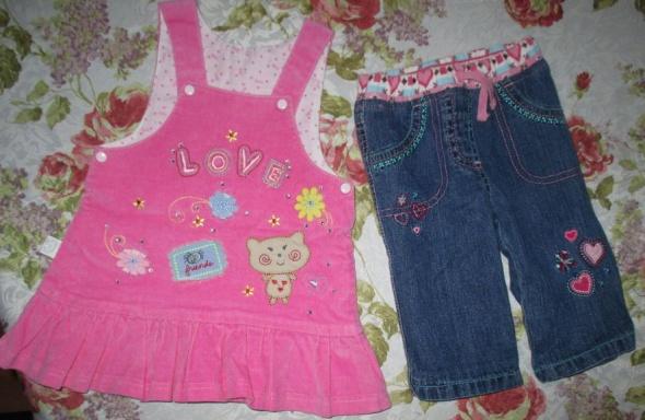 Sukienki i spódniczki sukienka i spodnie jeansy 62