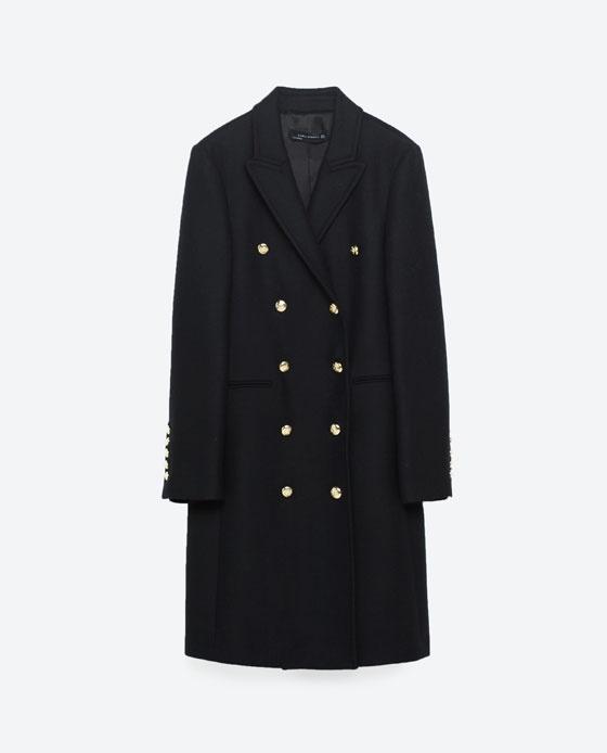 Płaszcz dwurzędowy ZARA