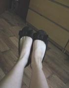 Czarne balerinki z kokardką