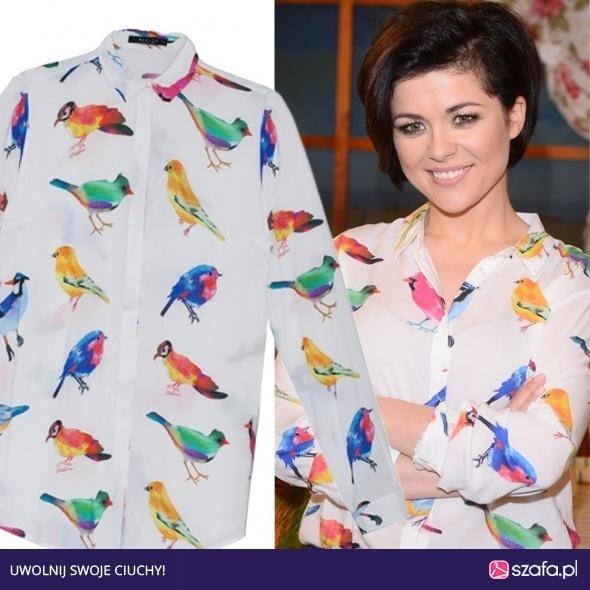 Ubrania Koszula w ptaki Mohito